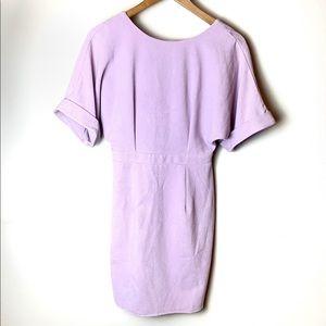 ASOS Lilac Lavender ZIP Up Career Dress US 4